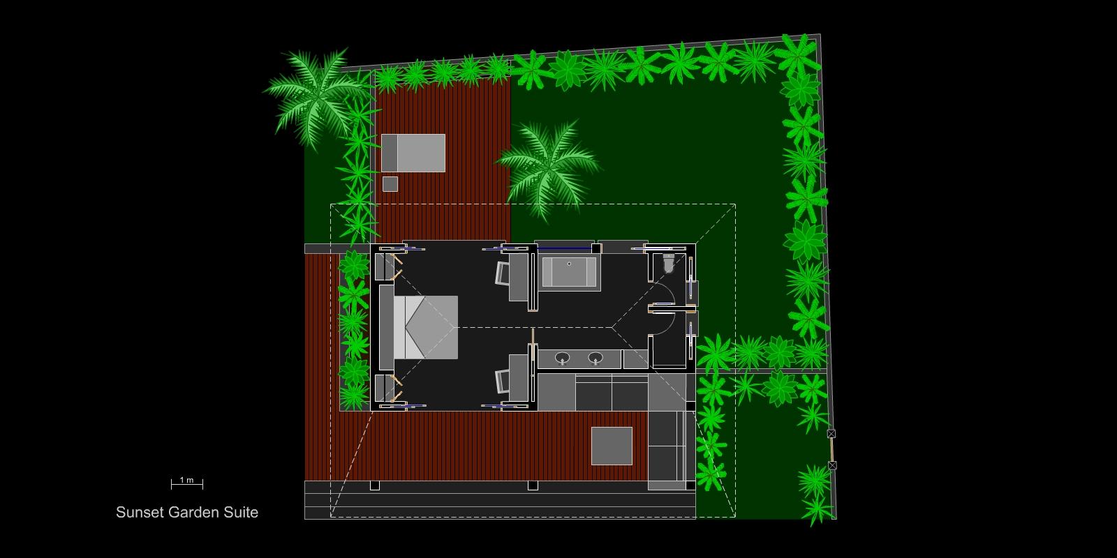 villa-matahari-garden-suite-layout
