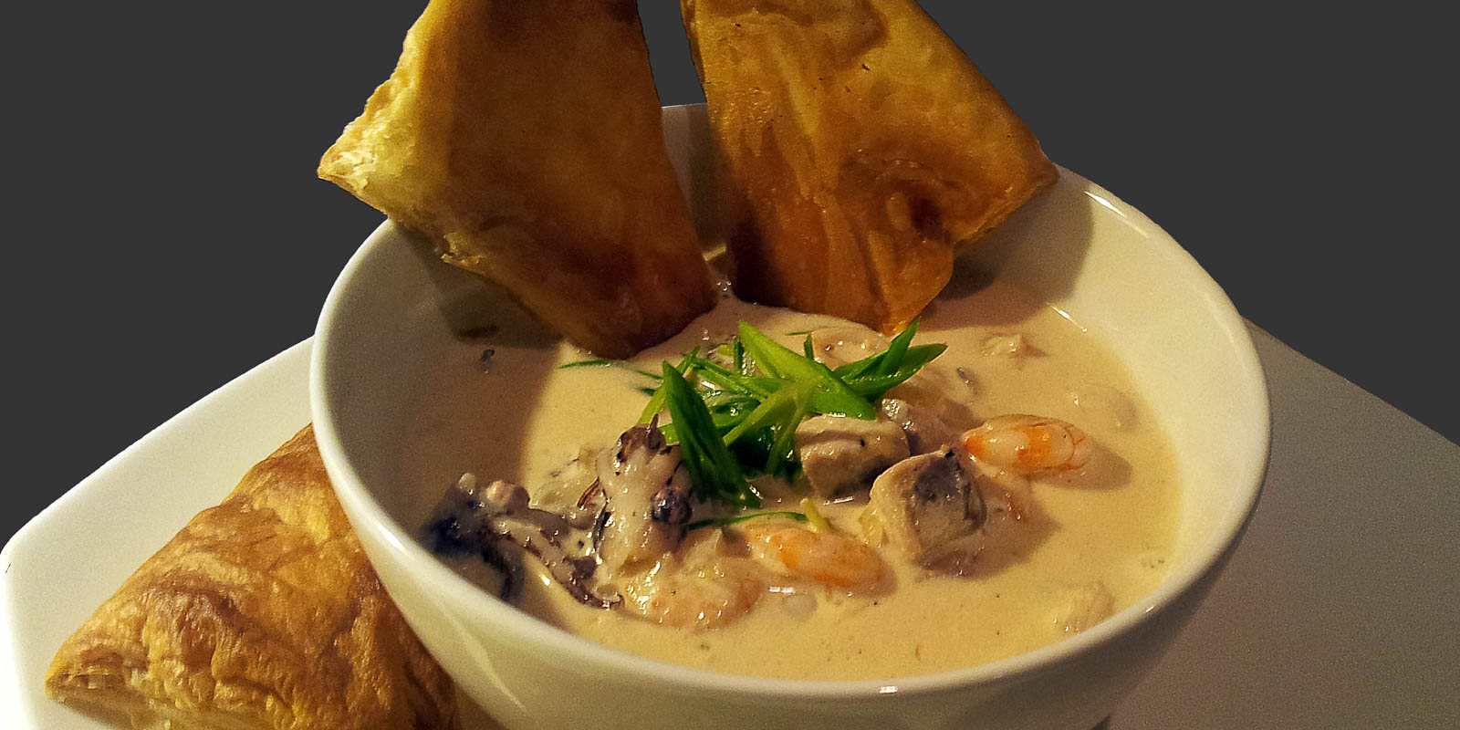 seafood-cream-soup-with-puff-pastry